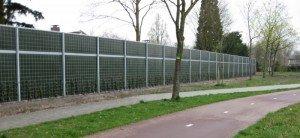 KokoWall Lärmschutzwand Lite entlang Fahrradweg