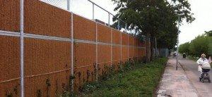 KokoWall Lärmschutzwand Lite Spiel- und Sportplatz Kokos seiten