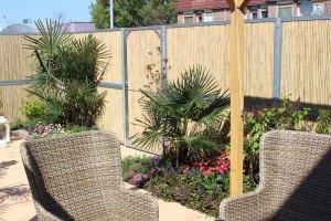 BambooWall Gartenzaun mit Tür 01