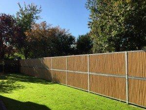 BambooWall Bambus Lärm- und Sichtschutz Garten 08