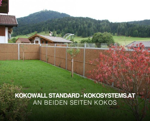 Sichtschutzzaun und Lärmschutz Garten Kokowall